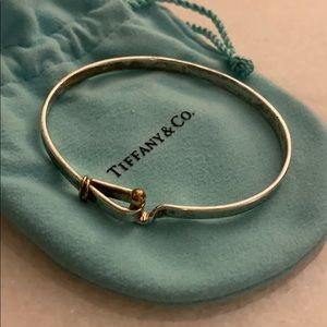 TIFFANYS & CO STERLING SILVER 18K HOOK ON BRACELET